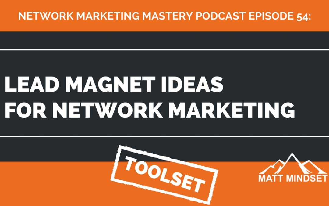 54: Lead Magnet Ideas For Network Marketing / MLM