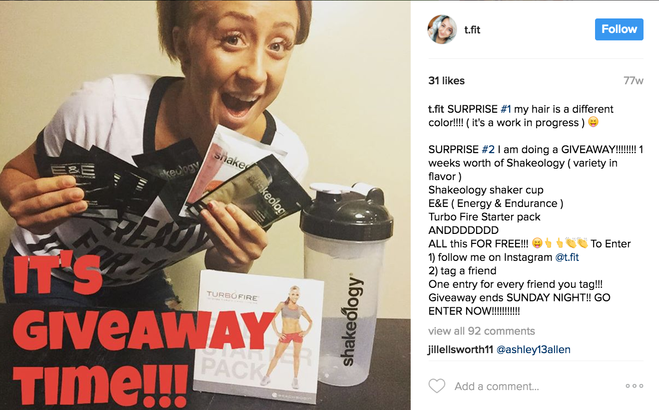 beachbody-giveaway-mlm-example