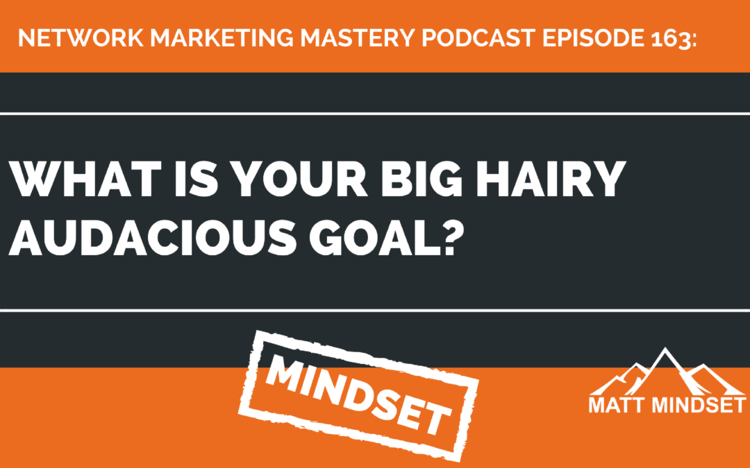 163: What is Your Big Hairy Audacious Goal?